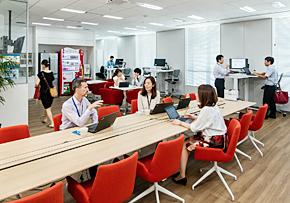 社員の働きやすさを考えたオフィスが増えている(写真提供:P&Gジャパン)